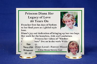 Princess Diana Her Legacy of Love 20 Years On China Thimble+ Memory Card B/173