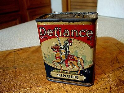 Vintage Litho Defiance Spice Tin Ginger Coldwater, Michigan