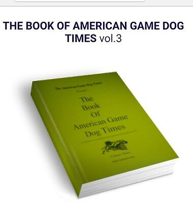 American Pitbull Terrier Dog Book AGDT Series Volume 3 signed by Editor FB