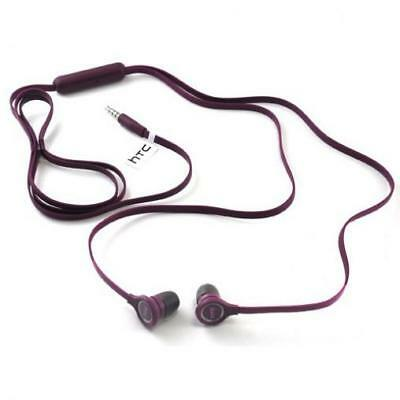 For T-MOBILE PHONES - PURPLE FLAT WIRED EARPHONES OEM EARBUDS MIC DUAL