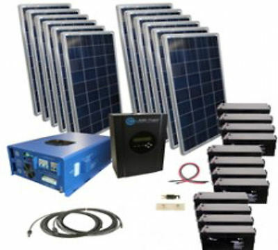 Hybrid Home Power System 540KWH Monthly Output Off Grid Solar/Wind Kit