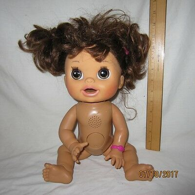"""Brunette Real Surprises Baby Alive 16"""" Doll 2012 English & Spanish Pees & Poops"""