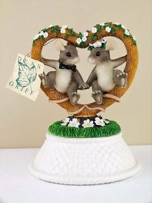 Charming Tails Mice Together Forever Wedding Cake Topper NWT Dean Griff