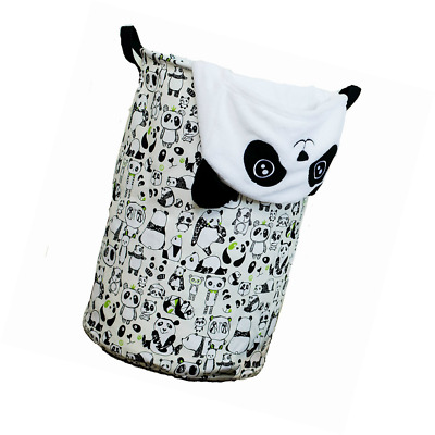 Laundry Hamper Basket for Kids with Panda Prints for Boy or Girl's Room and Baby