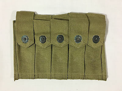 US Army Thompson 5 Cell SMG Magazine Pouch WW2