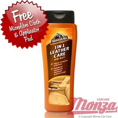 Armorall Car Leather 3 in 1 Cleaner & Conditioner **PLUS FREE APPLICATION KIT**
