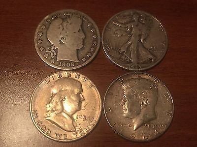 Early to modern silver 50 cent coins