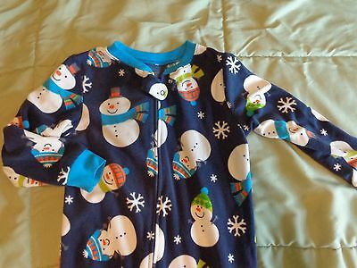 Boy's Toddler Winter Fleece One-Piece Footed Pajama Sleeper Size 5T Carters