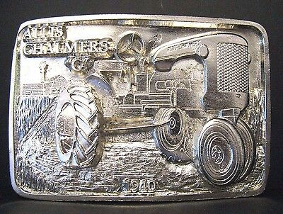 Allis Chalmers Model C 1940 Tractor SILVER Belt Buckle Limited Edition 012 / 250