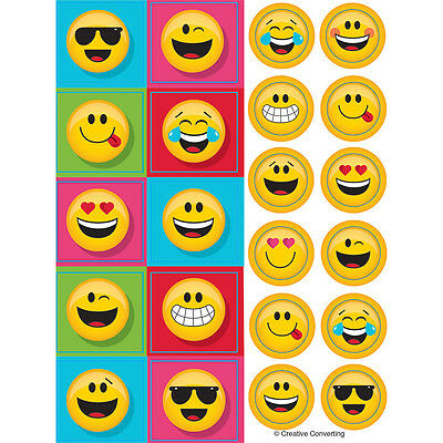 4 Emoji Character Icons Rubber Bracelets Birthday Party Favors Gifts Prizes EY