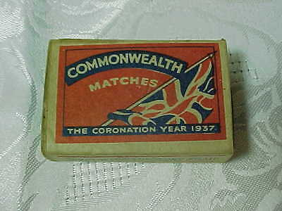 1937 King George VI Coronation Match Box COMMONWEALTH MATCHES by North England