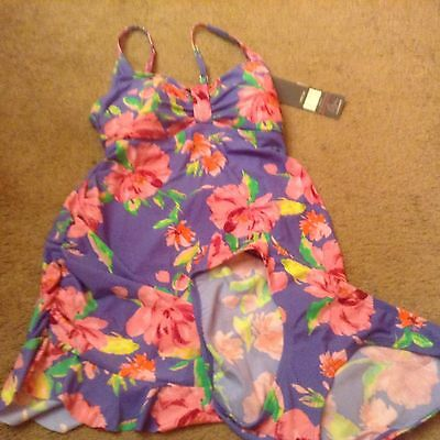 MOTHERHOOD OH BABY WOMENS MATERNITY FLORAL TANKINI SWIMSUIT 2 PC sm