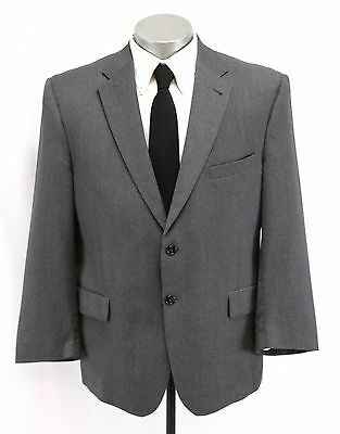 mens gray charcoal JOS A BANK 2pc PANT SUIT wool two button classic 44 S