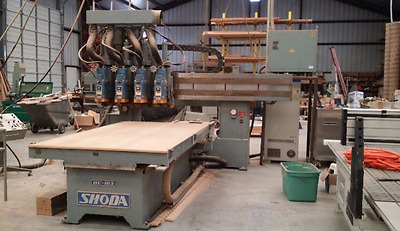 Shoda 3 Axis CNC Router with 4 Spindles and Single 4'8''x8'7'' Table