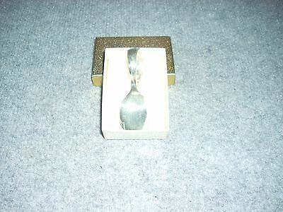 1847 Rogers Bros. Silver Baby Spoon, Curved Handle, Vintage