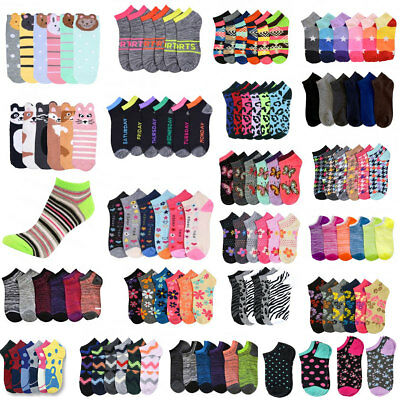 Women Girl Mixed Assorted Designs Color Ankle Socks Wholesale Lot size 6-8 9-11