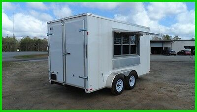 7x14 2ft v 16ft inside enclosed cargo motorcycle concession trailer 3 x 6 window