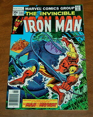 """The Invincible Iron Man #111 """"The Man and the Mayhem!"""" VF+ Condition Marvel"""