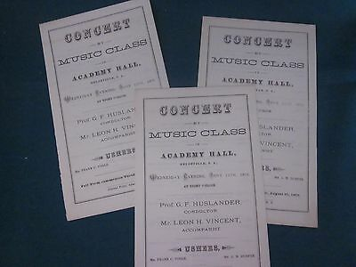 Lot of 1870's Documents Related to Union Academy / Belleville NY