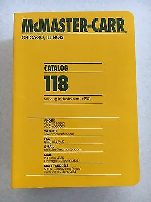 McMaster Carr Supply Catalog #118 Chicago IL NIB