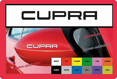 For SEAT CUPRA - 2 x wing mirror Decals Stickers Fits Leon Sport FR Altea ST etc