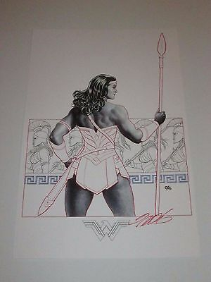 2017 SDCC WONDERWOMAN ART PRINT #2 SIGNED BY FRANK CHO  11x17