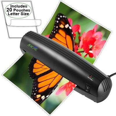 """Apache AL9 9"""" Thermal Laminator and 20 Laminating Scotch Letter Size Pouches"""