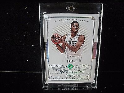 2015 National Treasures Multi-Sport - FLAWLESS - KARL ANTHONY TOWNS RC DIAMOND!