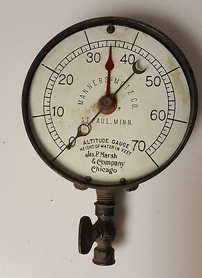Vintage Nautical Gauge Altitude Height of water in Feet  JP Marsh Manners Motz