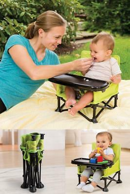 Baby Infant Eating Seat Portable Booster Camping Indoor Outdoor Chair Table Safe