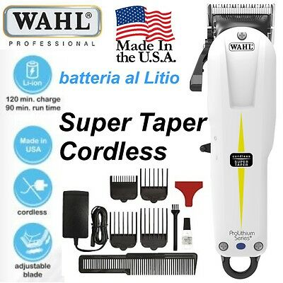 TAGLIACAPELLI TOSATRICE WAHL SUPER TAPER CORDLESS PROLITHIUM nb:non disponibile