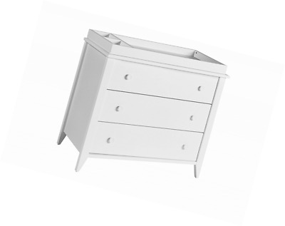 Babyletto Sprout 3-Drawer Changer Dresser, White, KD