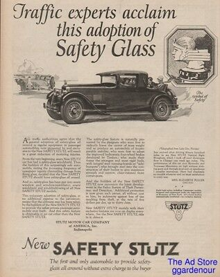 1926 Stutz Motor Car Co Indianapolis IN Coupe Rumble Seat Hood Ornament Art Ad