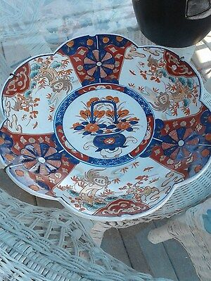 Antique Chinese Imari Porcelain Charger Plate