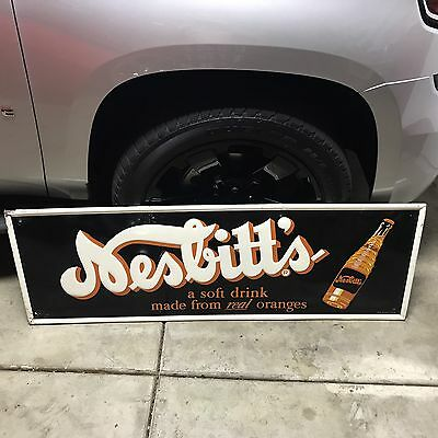Rare Nesbitts Embossed Sign, Nesbitts Soda Original Vintage Sign