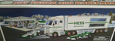 New Hess 2003 Toy Truck and Race Cars New in Box
