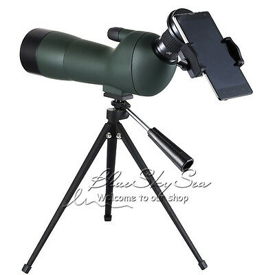 GOMU Angled 20-60x Zoom Spotting Scope Monocular +Tripod + Adapter+Case LOCAL!