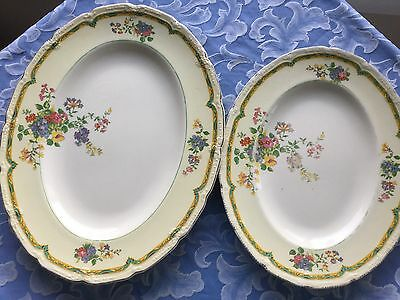 Antique English China small Platter, Medium Platter And Large Platter