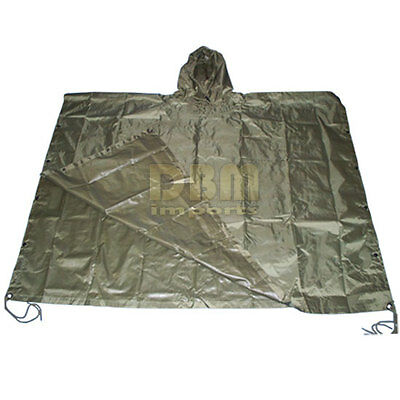 Military USMC Style Poncho Rain Coat Water resistant OD GREEN Color