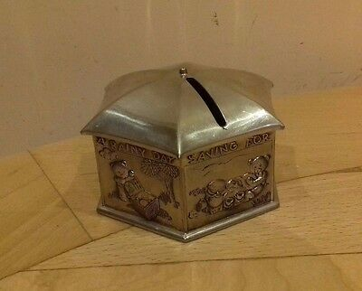 Vintage Metal Casket Piggy Bank Coins Money Box Children Kids Gift