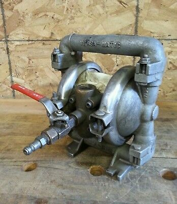 "Versa-Matic 3/4"" NPT Double Diaphragm Pump, Tested Good"