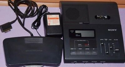 Sony BM-840 Microcassette Transcriber with AC & Foot Control Made In Japan Clean