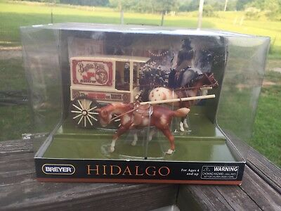 Breyer Horse Stablemate Hidalgo Buffalo Bill Play Gift Set Wagon NIB