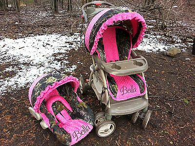 Camo Stroller / Infant Seat Cover Set - Graco/BabyTrend Travel Size