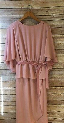 Vintage Formal Gown by Katherin Lindsay size 16 Woman Pink Mother of the Bride