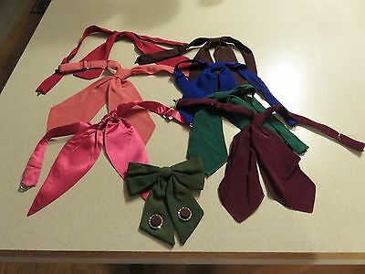 Lot of 8 Western Square Dance   Dress Ties/Scarves Variety of Colors  VAQUERO