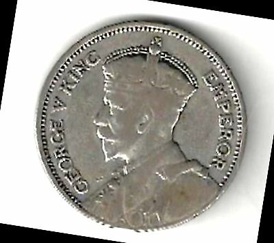 New Zealand - 1934 Shilling - Silver