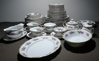 Wentworth Marguerite #902 China 52 Piece Set SERVICE FOR 8 Plates Cups Bowls Etc