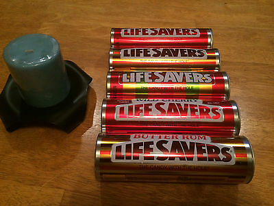 Lifesavers Candy Metal Tin Empty Canisters 7.26 oz. Size Each Lot of 5