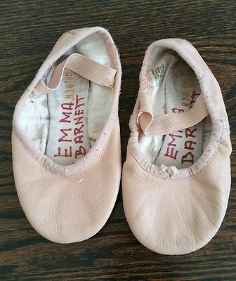 Bloch Girls Pink Leather Ballet Dance Slippers Shoes - 8.5